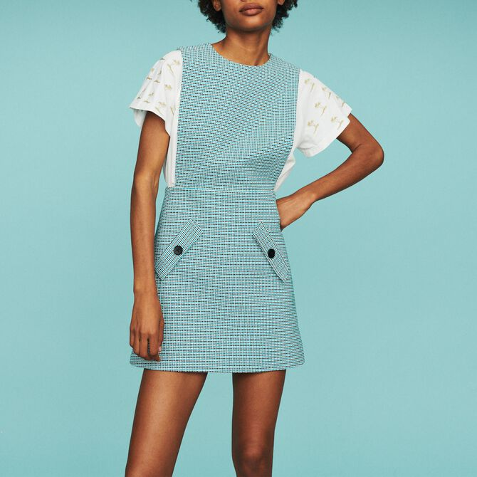 Tweed-style chasuble dress - See all - MAJE