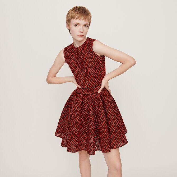 Basket-stitched knit dress - staff private sale 20 - MAJE