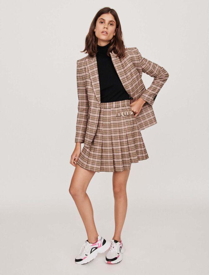 Jupe plissée à carreaux façon kilt - Midseason-Sales_UK_30% - MAJE