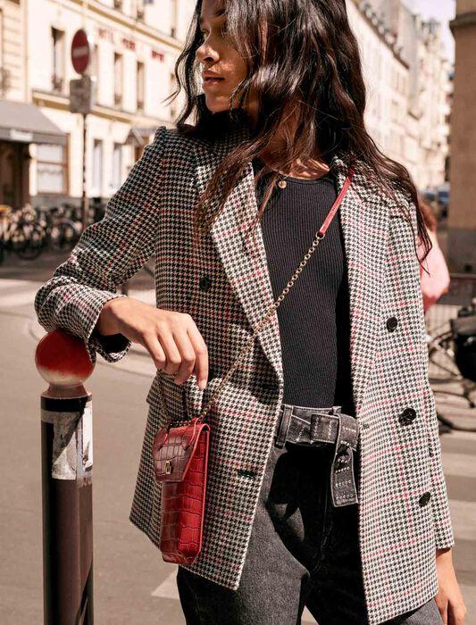 Veste à carreaux et double boutonnage : Pap_Vestes couleur MULTICOLOR