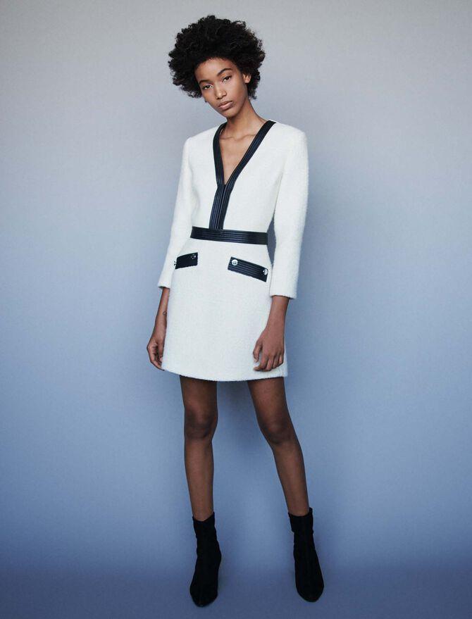 Tweed-like contrast dress - Dresses - MAJE