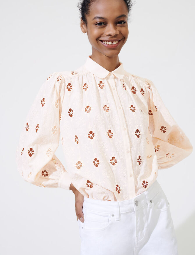 Broderie anglaise shirt - All the collection - MAJE