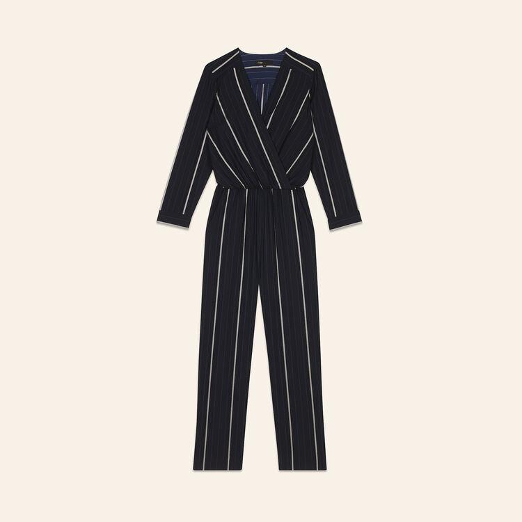 2eee697db1a PANTI Striped jumpsuit - Trousers   Jeans - Maje.com