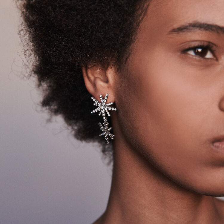 Star strass-earings : Jewelry color Crystal