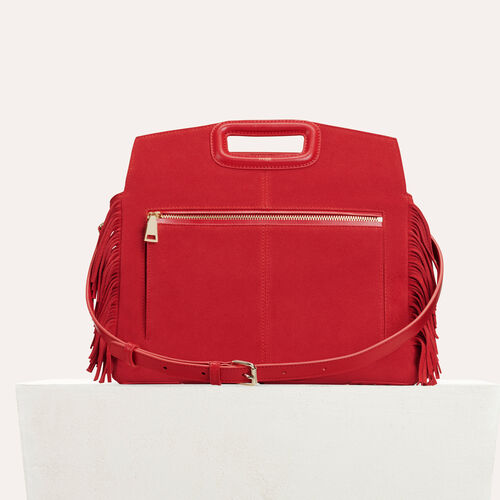 MWALK bag with leather fringe : M Walk color Red