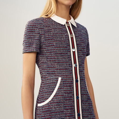 Tweed dress : Prints color Jacquard