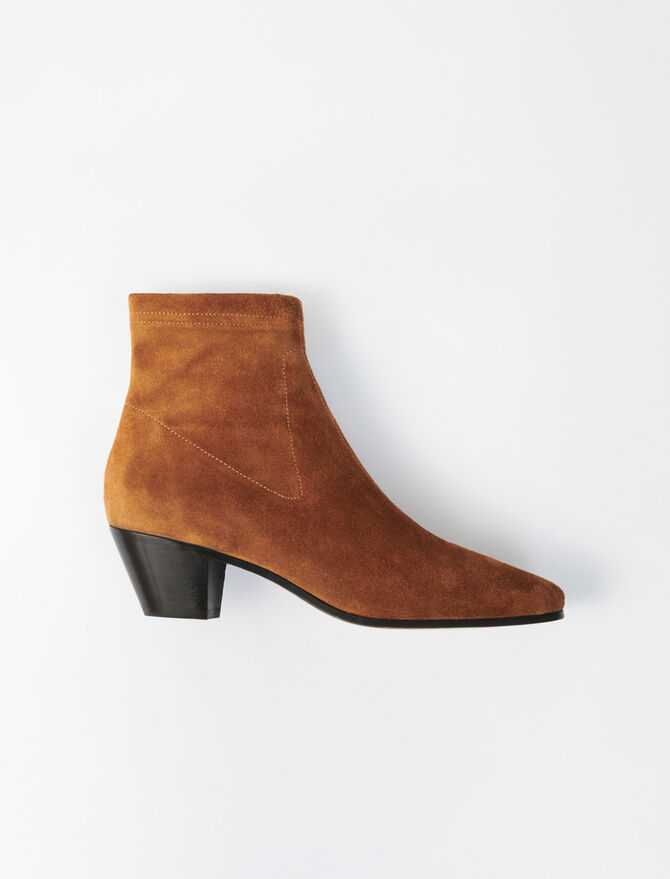 Suede sock boots - Booties & Boots - MAJE
