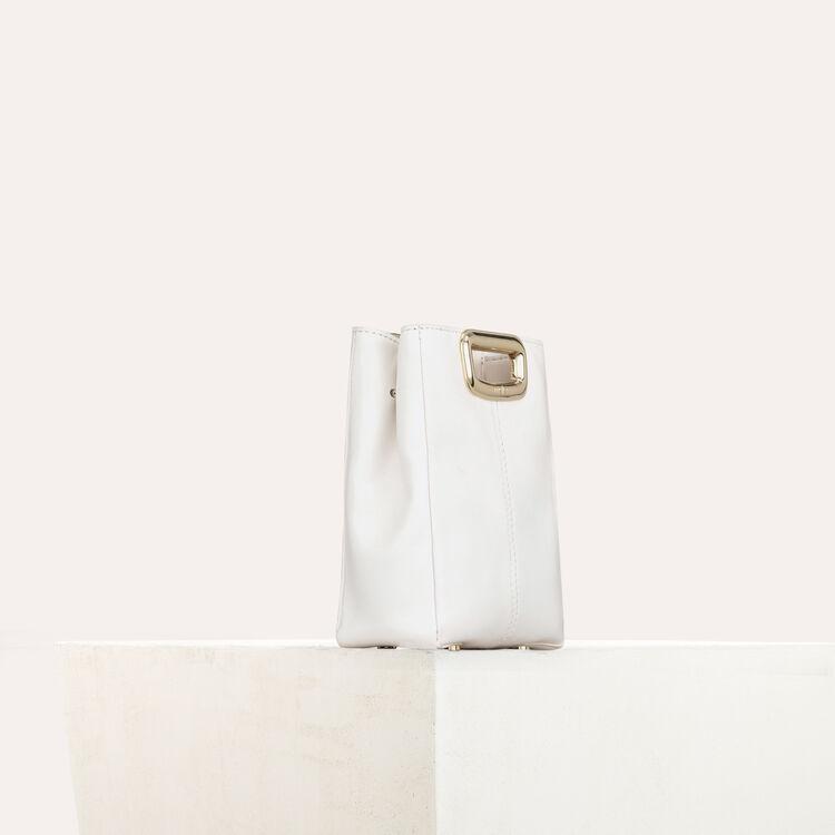 M Mini Skin bag in leather : M Mini color White