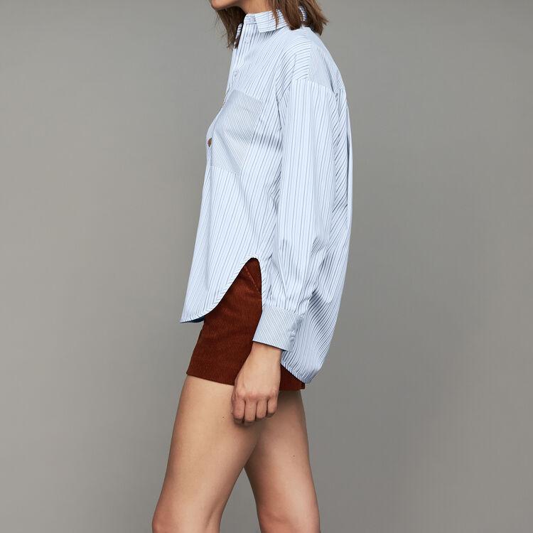 Cotton striped shirt : Shirts color Stripe