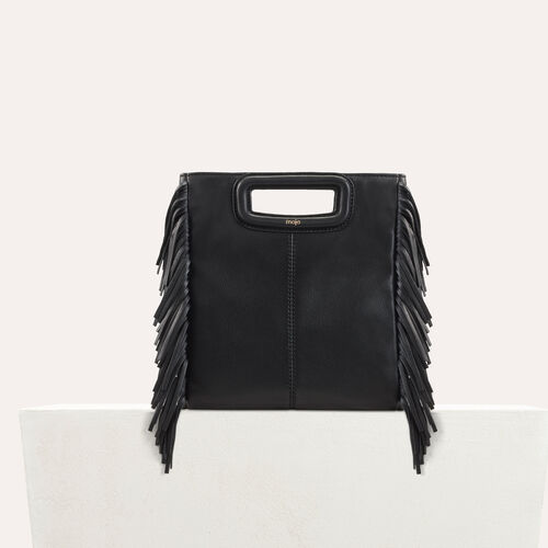M bag with leather fringes : null color Black 210