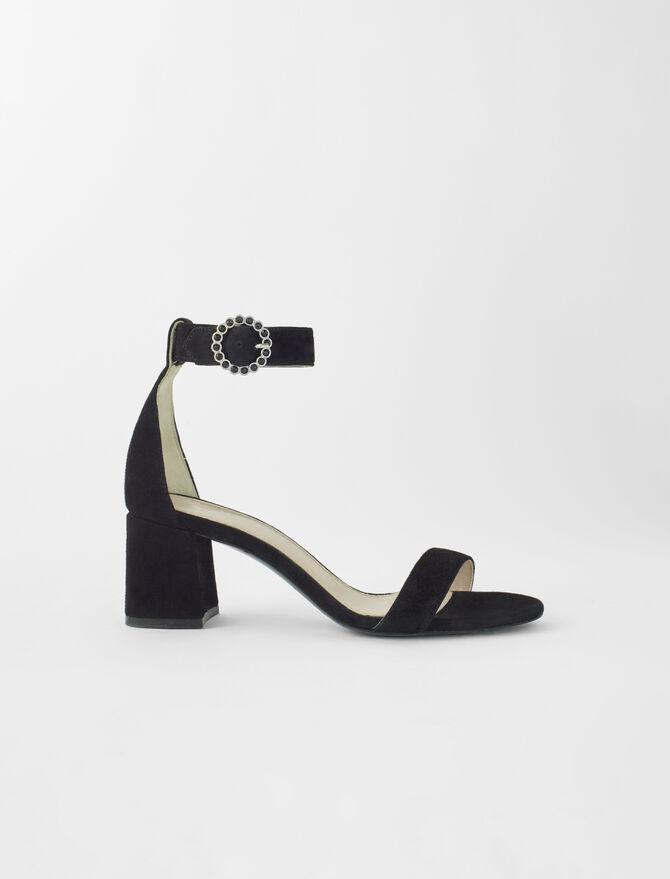 Strappy midi-heeled sandals -  - MAJE