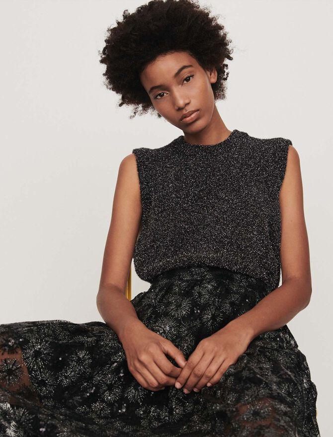 Lurex sleeveless sweater - See all - MAJE