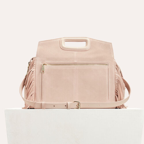 Suede shoulder bag : M Walk color PINK DUNE