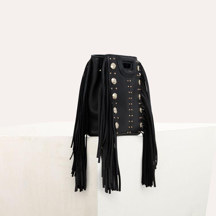 M mini leather bag with studs : M Mini color BLACK