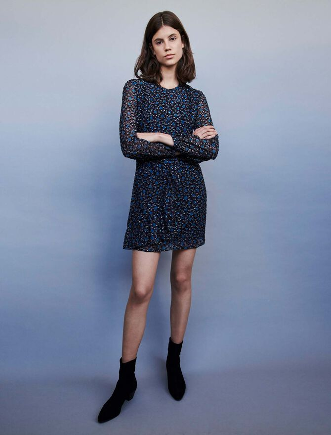 Devore Lurex dress - Dresses - MAJE
