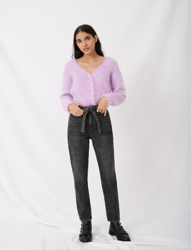 Jean façon mom à ceinture strassée - Pap_Pantalons-Jeans - MAJE
