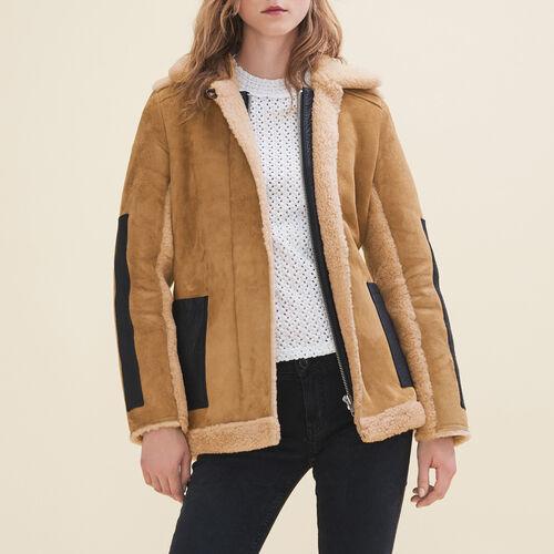 Sheepskin coat : Coats color Caramel