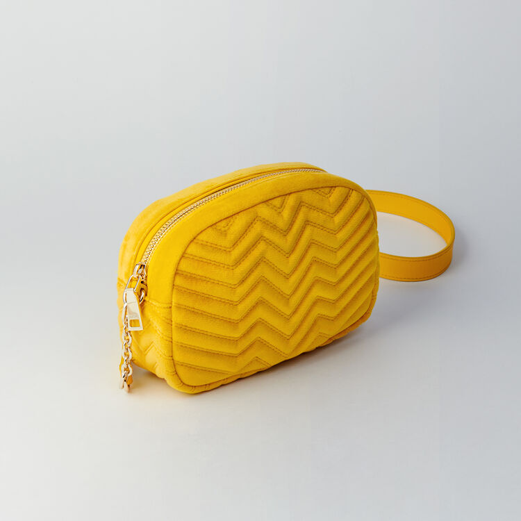 Quilted velvet shoulder bag : Sami bag color Yellow