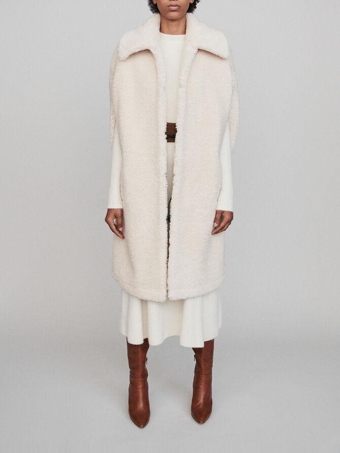 Faux fur cape coat - Coats & Jackets - MAJE