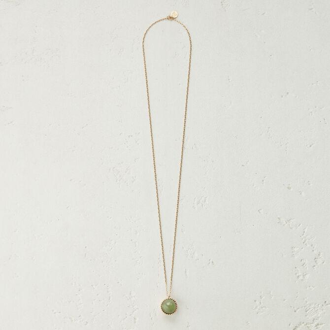 Collier long avec pendentif en pierre - Accessoires_Bijoux - MAJE