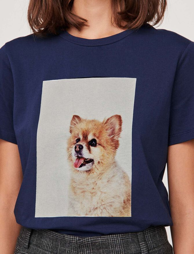 """T-shirt with """"chien"""" print - T-Shirts - MAJE"""