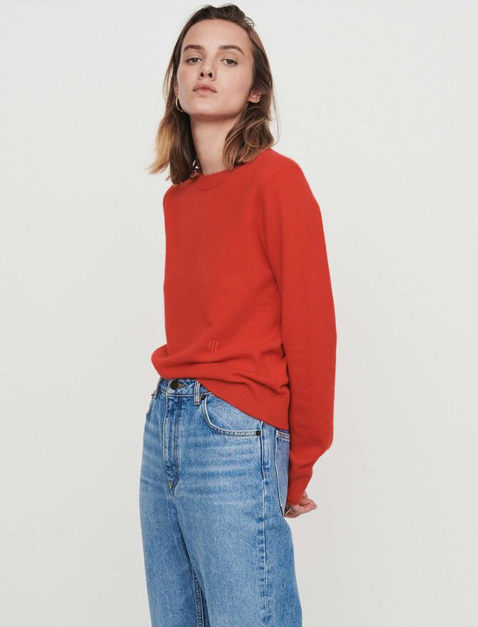 Cashmere jewel-neck sweater - Pullovers & Cardigans - MAJE