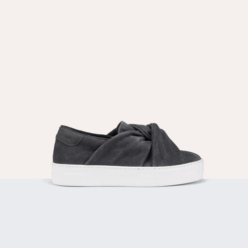 Suede trainers with bow : Shoes color Grey
