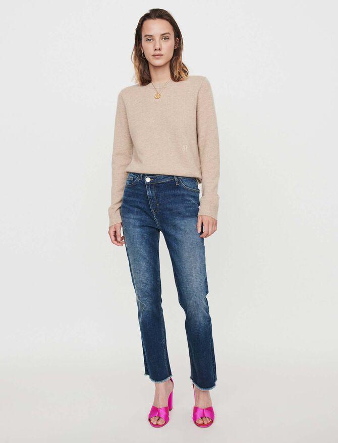 Jean à  ceinture décalée - Pap_Pantalons-Jeans - MAJE