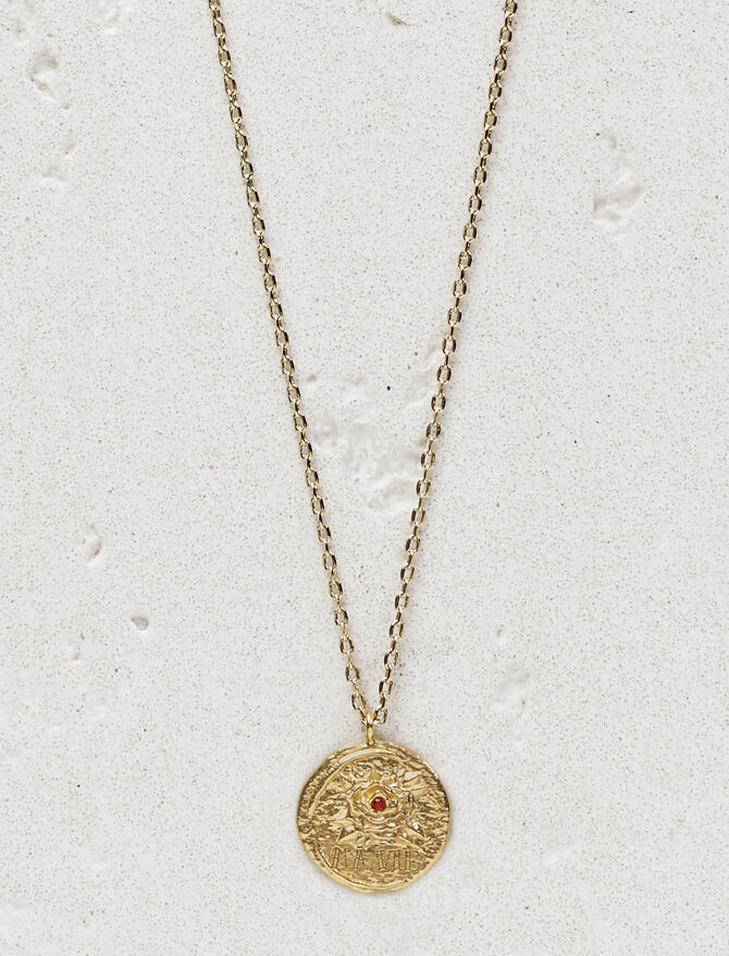 "Necklace with medallion ""Ma vie"" -  - MAJE"