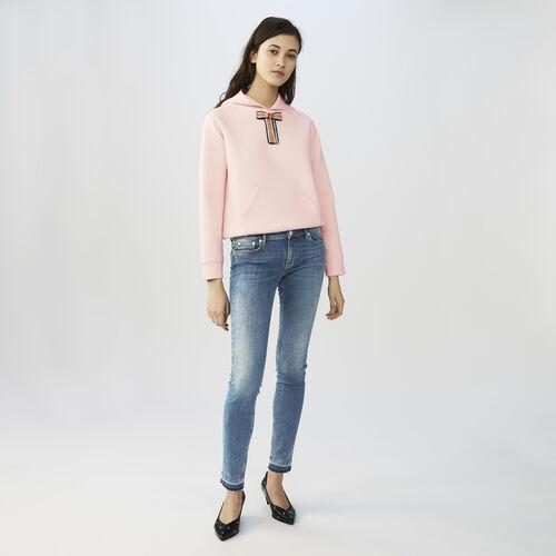 Bleu denim slim jeans : Jeans color Denim