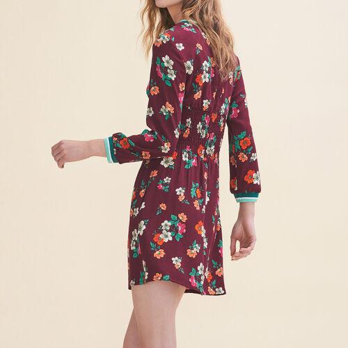 Flowing dress with a retro print : Dresses color Print