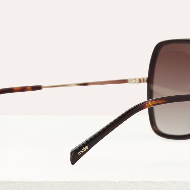 Lunettes de soleil en acétate et métal : Eyewear color Ecaille