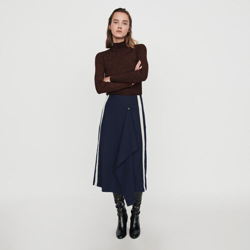 Skirt with racing stripes : Skirts & Shorts color Navy