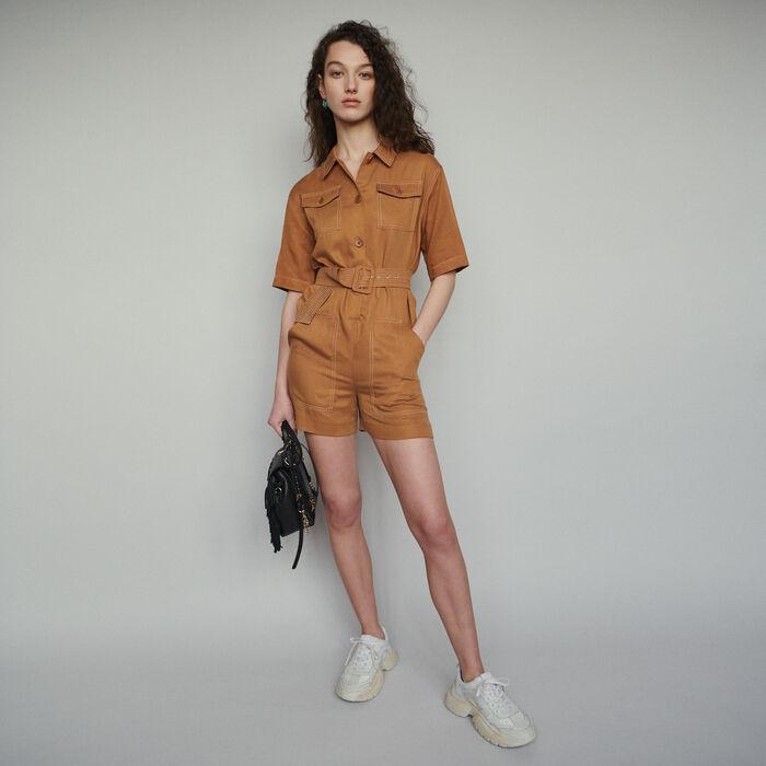 Shirt romper : Skirts & Shorts color Terracota
