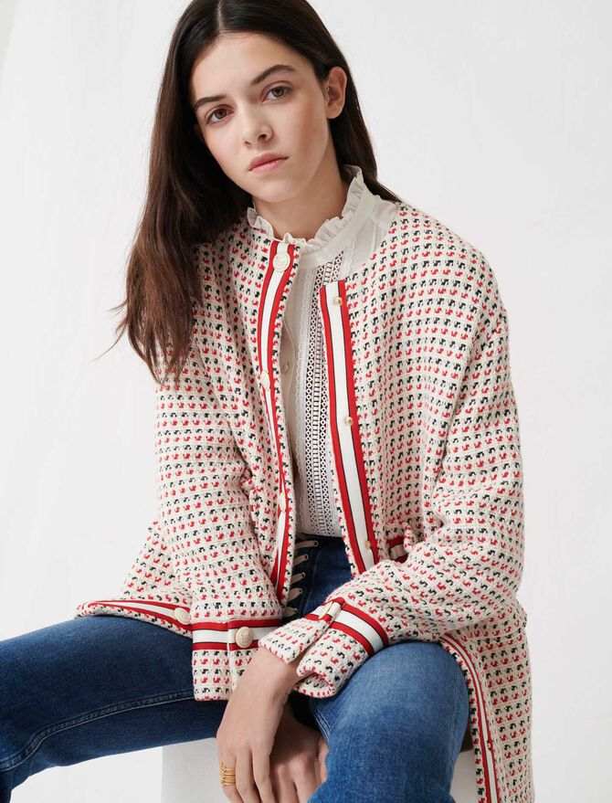 Short preppy tweed-style coat -  - MAJE