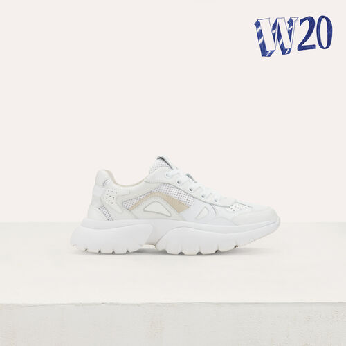 W20 Urban leather sneakers : See all color White