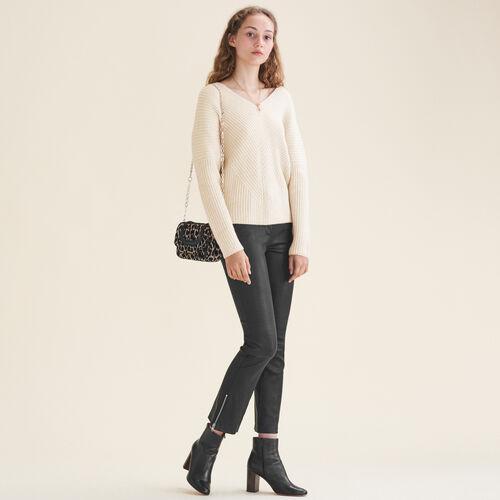 Loose cashmere jumper : Sweaters & Cardigans color Nude