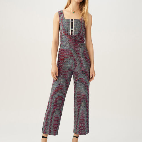 Tweed jumpsuit : Trousers color Jacquard