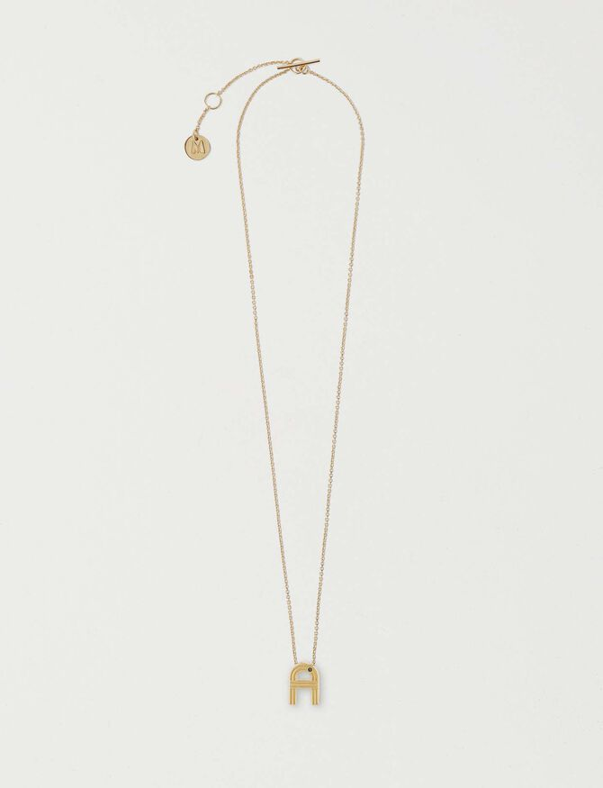 Necklace with initial pendant - Accessories - MAJE