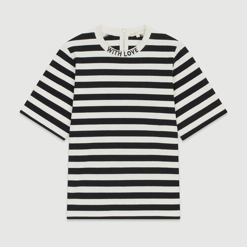 Bicolor striped T-shirt : T-Shirts color Stripe