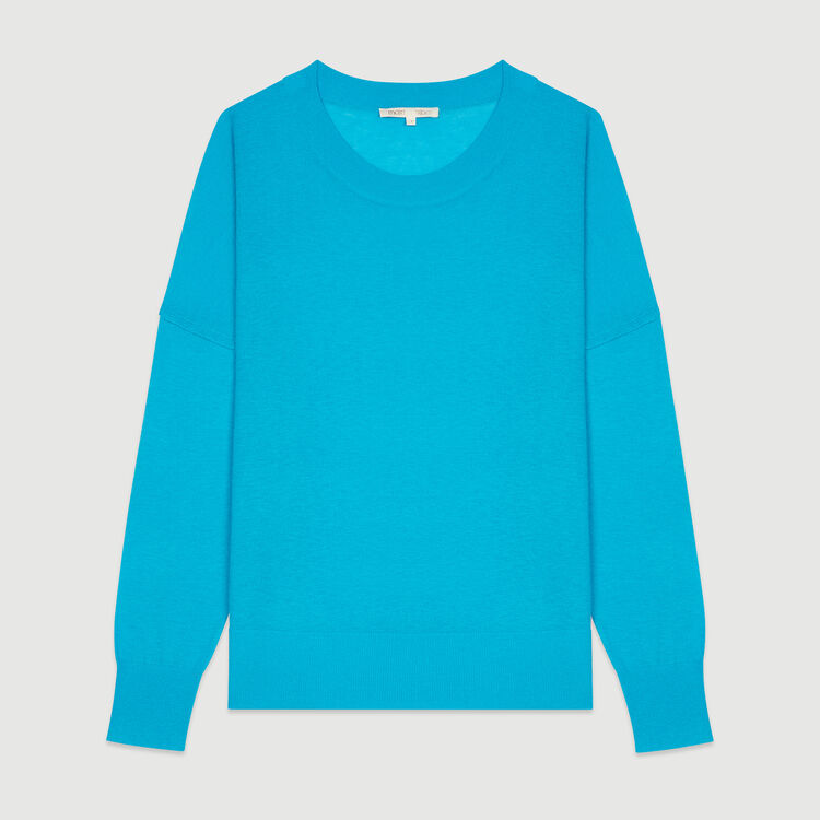Oversize sweater in cashmere : Knitwear color Blue