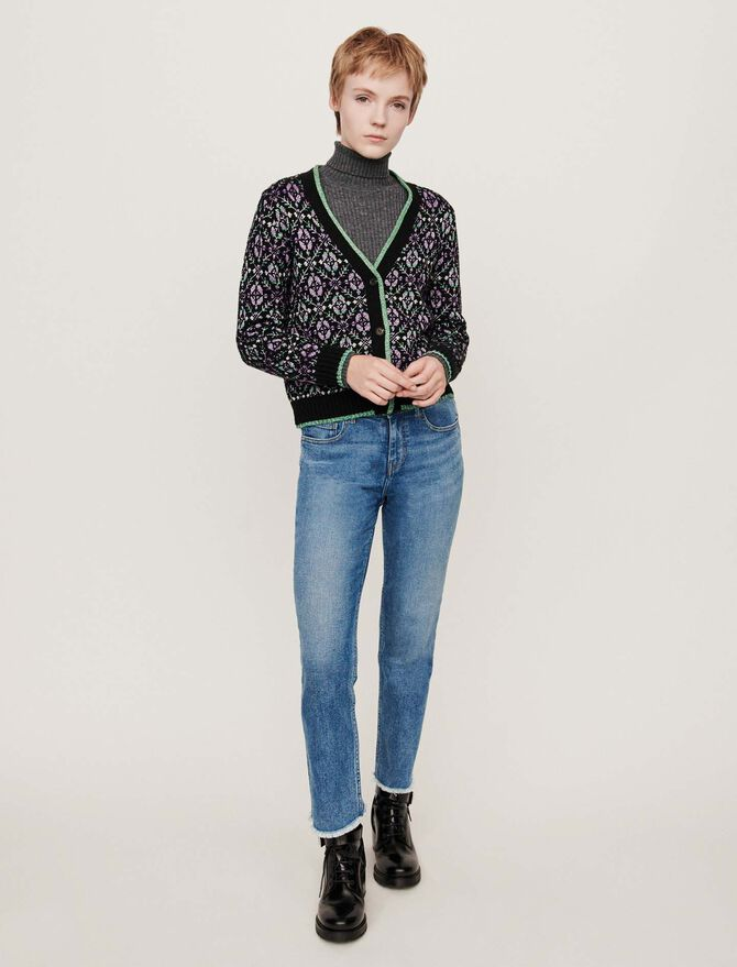 Jacquard cardigan - Presoldes-50_BE - MAJE