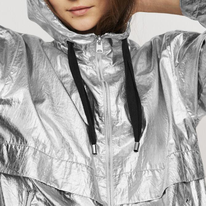 Windproof coat with hood - Coats - MAJE