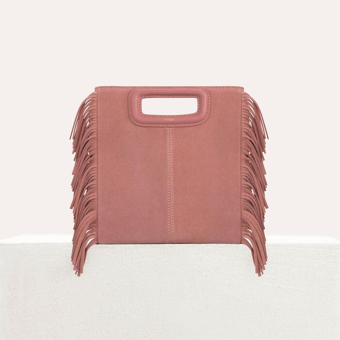 M bag with suede fringes : M bag color Beige