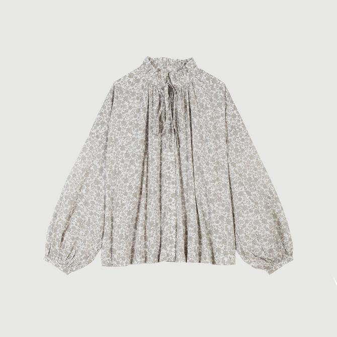 Chemise en coton à imprimé floral - staff-private-sale - MAJE