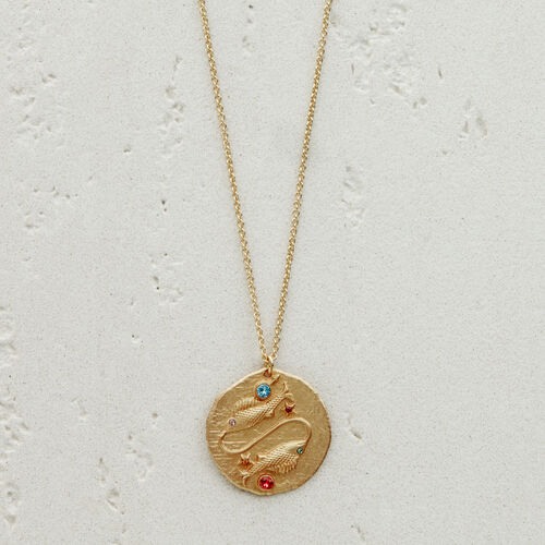 Pisces zodiac sign necklace : See all color GOLD