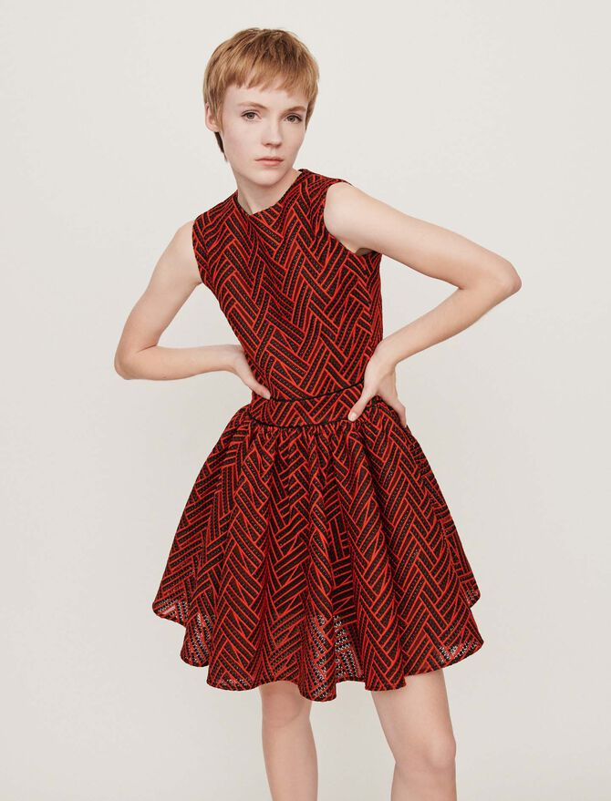 Basket-stitched knit dress - Dresses - MAJE