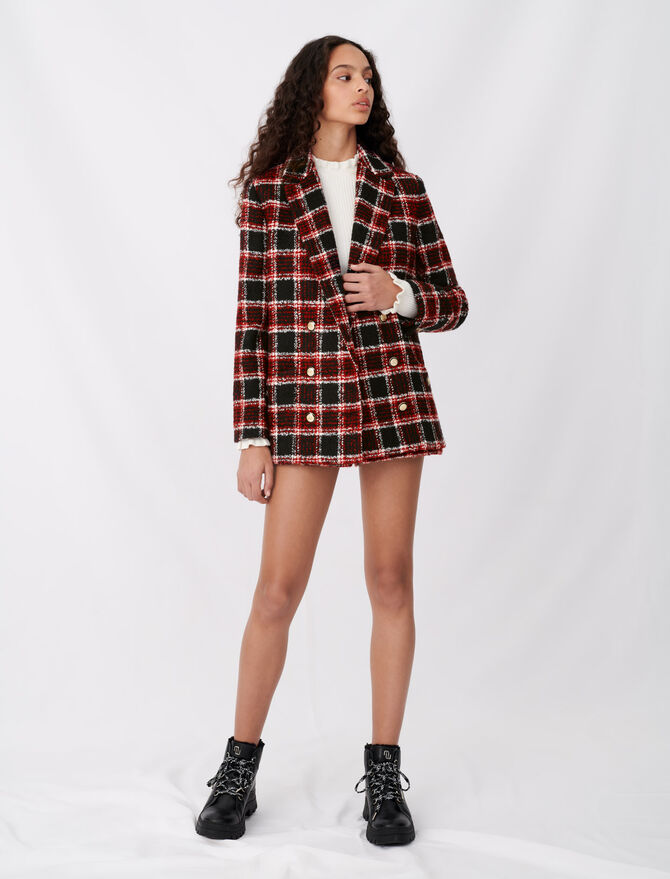 Tweed-style checked jacket - Blazers - MAJE