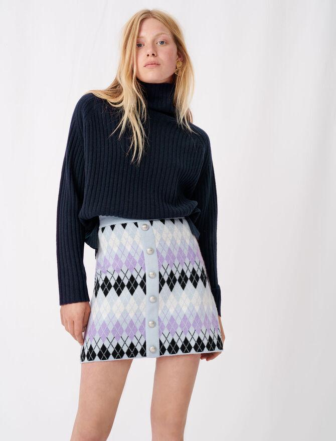Argyle jacquard skirt - Skirts & Shorts - MAJE