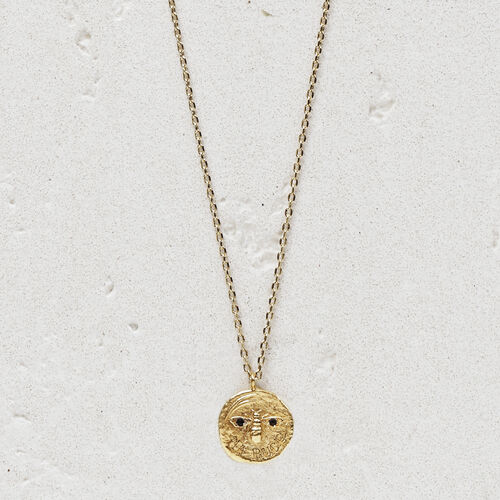 "Necklace with medallion ""Ma puce"" : Jewelry color GOLD"